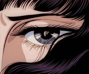 anime, purple, and eyes image