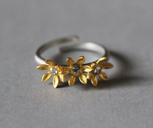 etsy, flower jewelry, and floral ring image