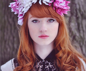 flowers and redhead image