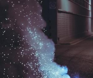 light, grunge, and blue image