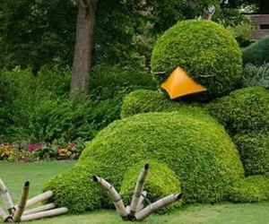 art, funny, and garden image