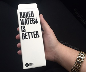 white, aesthetic, and boxed water image