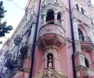 pink, vintage, and architecture image