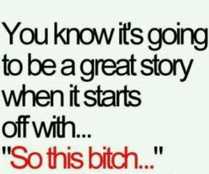 bitch, story, and quote image