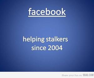 facebook, funny, and stalker image