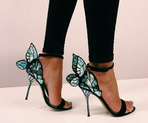 butterfly, stiletto, and heels image