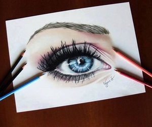 drawing, art, and eye image
