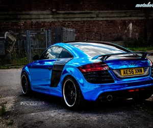 audi, blue, and monster image