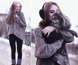 fashion, cat, and style image