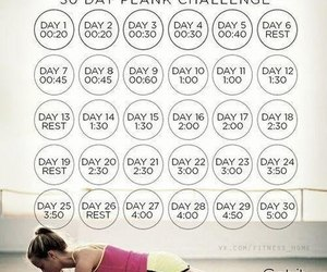 fitness, challenge, and plank image