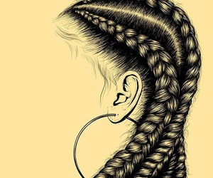 cornrows, style, and hiphop image