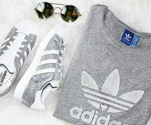 adidas, grey, and shoes image