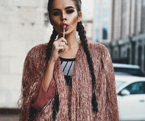 braid, beauty, and rose gold image