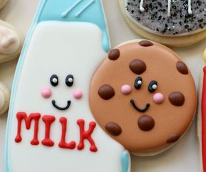 Cookies, milk, and sweet image