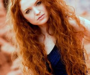 beautiful, model, and red hair image