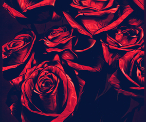 flowers, tumblr, and red image