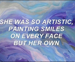 artistic, face, and her image