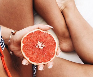 aesthetic, bright, and grapefruit image