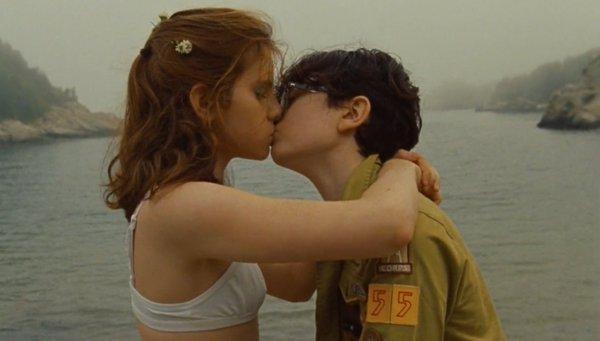kiss, moonrise kingdom, and movie image