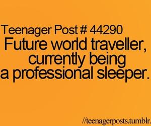 future, sleep, and life image