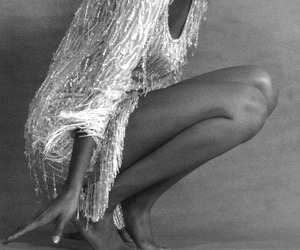 black and white, model, and sequins image