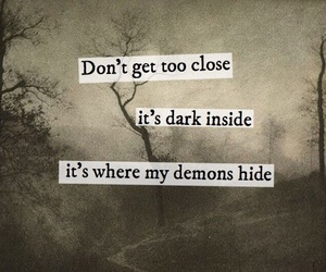 dark, deep, and demons image