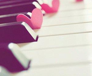 piano, love, and heart image