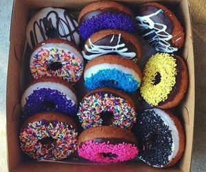 chocolate, donuts, and colorful image