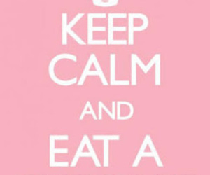 cupcake, keep calm, and pink image