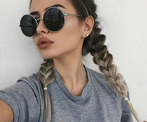 braids, girl, and style image