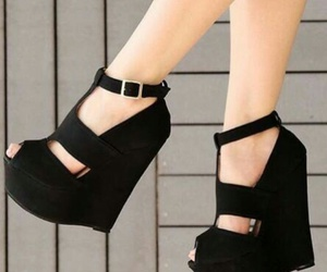 black, heels, and perfect image