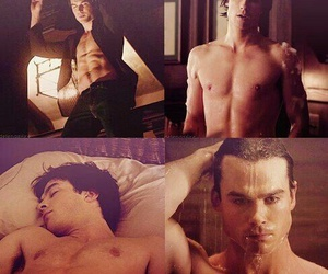 damon and shirtless image