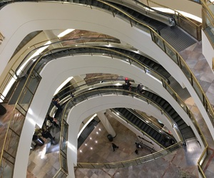 aesthetic, escalator, and lights image