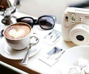 coffee, camera, and heart image