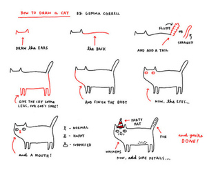 cat, draw, and funny image