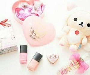 cute, pink, and rilakkuma image