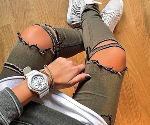 jeans, nails, and outfit image