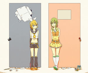 anime, kagamine rin, and vocaloid image