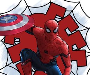 civil war, Marvel, and spider man image
