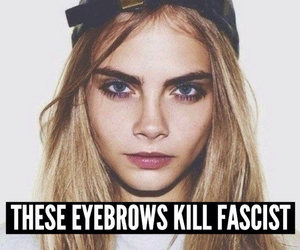 eyebrows, model, and cara delevingne image