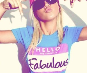 girl, fabulous, and blonde image