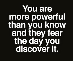 quotes, Powerful, and fear image
