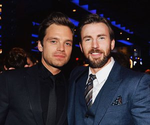 captain america, bucky barnes, and chris evans image