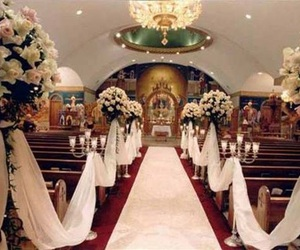 wedding and church image