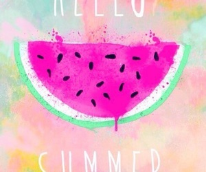hello, summer, and watermelon image