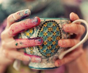 cup, art, and paint image