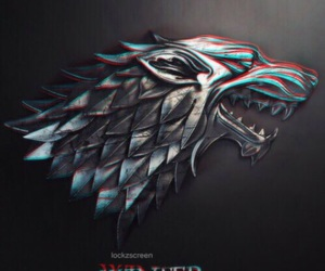 stark, game of thrones, and winter image