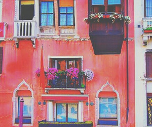 venice, pink, and italy image