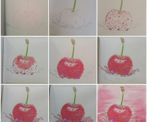 art, cherry, and drawing image