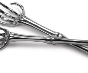 fork, bones, and silver image